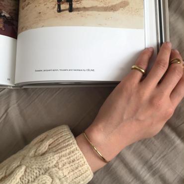 【受注販売】wide simple ring