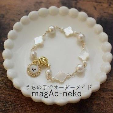 【オーダーメイド】貝殻の花のうちの子ブレスレット/ペット数追加OK