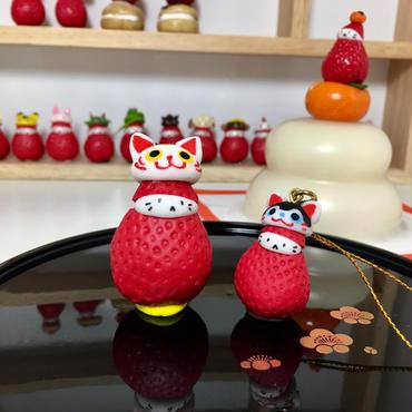 【苺ぼうや】福袋(招き猫マスコットor狛犬ストラップなど計6個入+クーポン付き