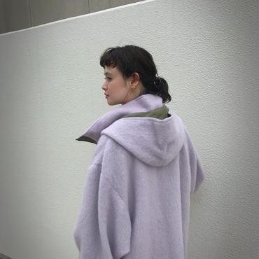 SHIROMA CHURCH hooded mohair blouson