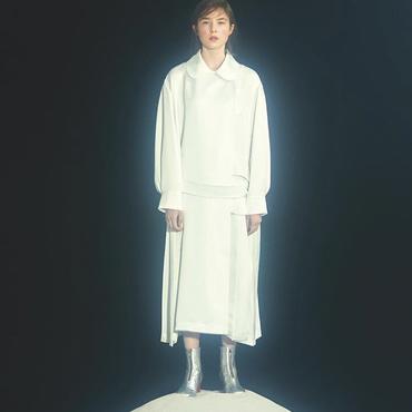 MINJUKIM pocket trench coat dress