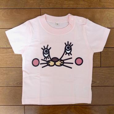うさねこTシャツ(ベビー:ライトピンク)
