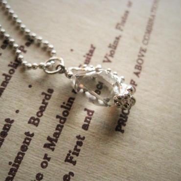 【再販】Herkimer diamond Necklace14mm -ハーキマーダイアモンドネックレス-