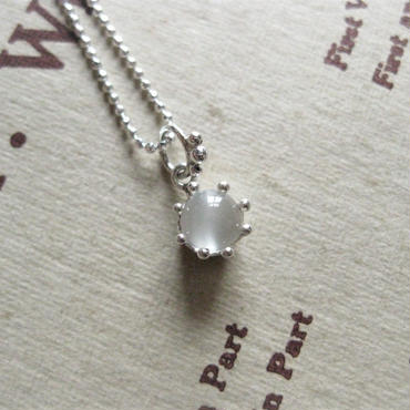 New!Milk Crown Necklace -ムーンストーン -