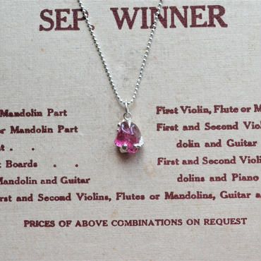 GemStone Necklace  -Pink Tourmaline- 8mm