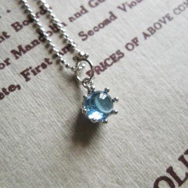 Milk Crown Necklace -BlueTopaz/Cabos -