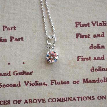 Milk Crown Necklace -Mystic cubic zirconia-