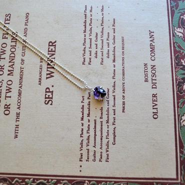GemStone Necklace  -Ametyst- 10mm