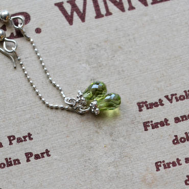 Briolet cut  peridot earrings-4×6mm-