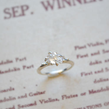 Herkimer Diamond  Ring -18-