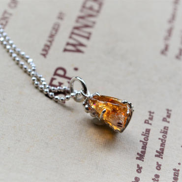 GemStone Necklace  -Citrine- 11mmレインボー入
