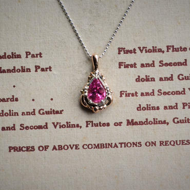Only One! Tear Jewels /Pink Tourmaline Necklace -ピンクの滴-
