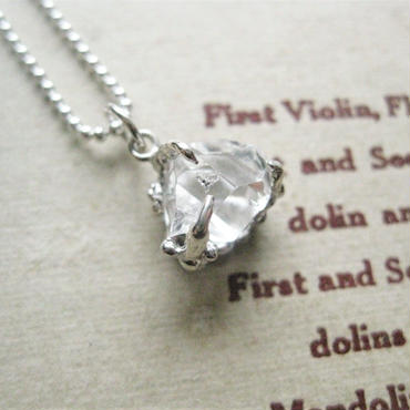 Herkimer Diamond -Water Space-Necklace 9-11mm