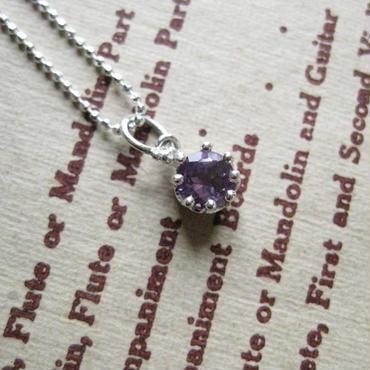Milk Crown Necklace -Ametyst/Cut