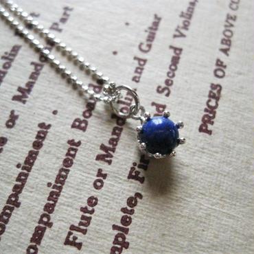 Milk Crown Necklace -Lapislazuri/cabos -