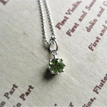 Milk Crown Necklace -Peridot/Cut- 【受注後制作】