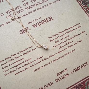8-9mm Herkimer Diamond  -ピンクのネックレス-