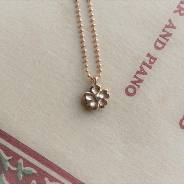 Sakura Petal Necklace  K10 Pink Gold-春限定-