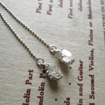 Herkimer diamond Pierced -ハーキマーダイアモンドピアス-Long
