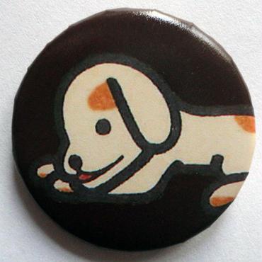 イヌ缶バッチ(カラフルアニマル)
