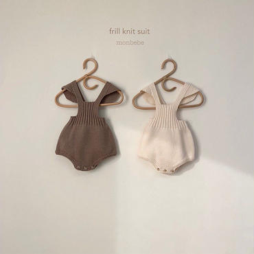 frill knit  rompers