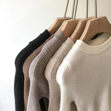 knit  rib  T