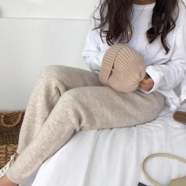 knit  mohair pants