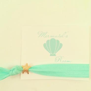 mint×starfish hair tie...❤︎
