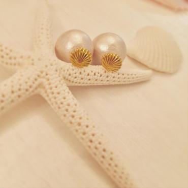 K14GF shell&pearl earrings...❤︎
