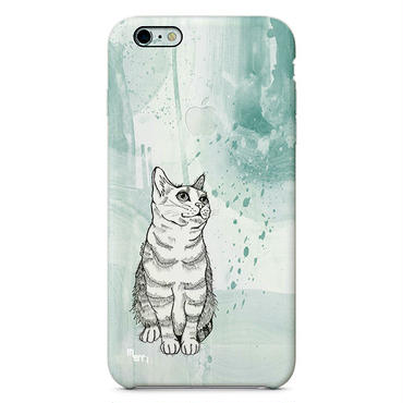 """Cat"" ネコ -green- iPhone 6/6s/5/5s/6plus/6s plus Cover [ soft / hard ]"
