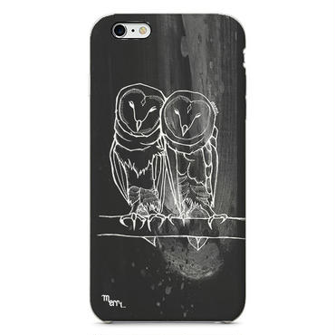 """Owl twins"" フクロウ iPhone 6/6s/5/5s/6plus/6s plus Cover [ soft / hard ]"