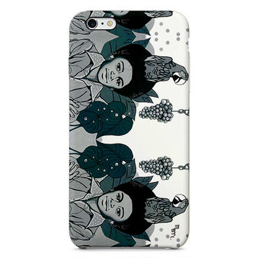 "iPhone Cover ""Michael & grape"" マイケルとぶどう -mono- iPhone 6s"