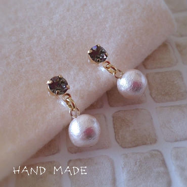 ノンホールピアス*grege × pink