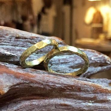 ハンドメイド真鍮 指輪
