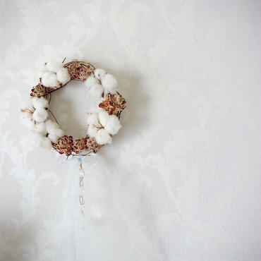 """【1点もの、送料込】2016ChristmasWreath★""""snow fall"""""""