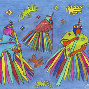 ミゲルリマ ポストカード「星ぼしとのダンス」