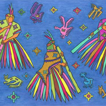 ミゲルリマ ポストカード「星ぼしとのダンス」2
