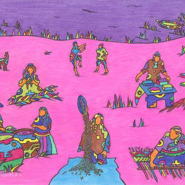 ミゲルリマ ポストカード「アイマラの約束」