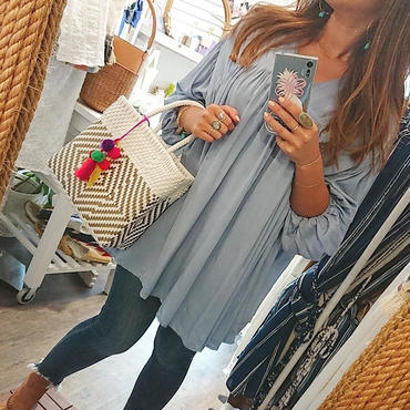ginger and sprout(ジンジャーアンドスプラウト)/ GATHERED FLARE TOP