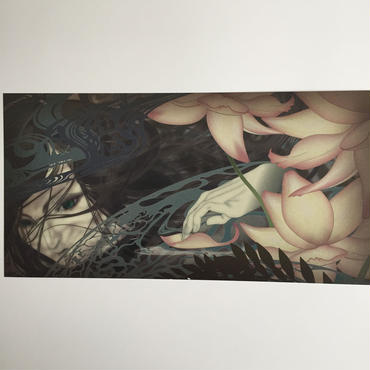 Large sized postcard・Wraith in water