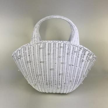 ミイクパール籠バックホワイト