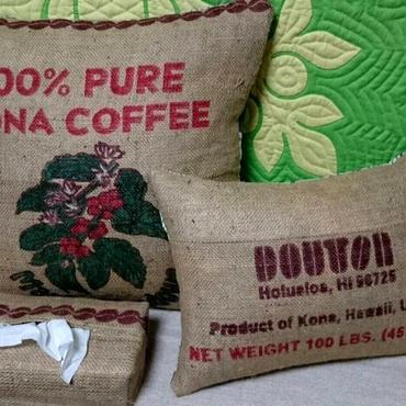 ハワイ島コーヒー麻袋 クッションセット