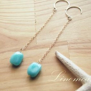 Amazonite Dangle Pierce