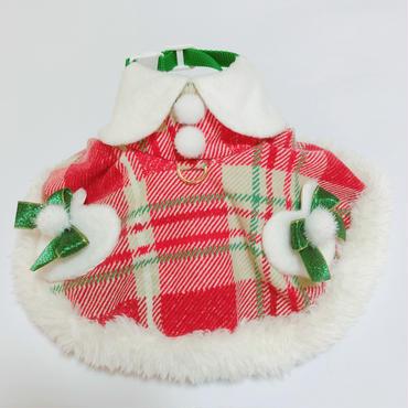 クリスマス赤チェック*女の子のハーネス*Mサイズ