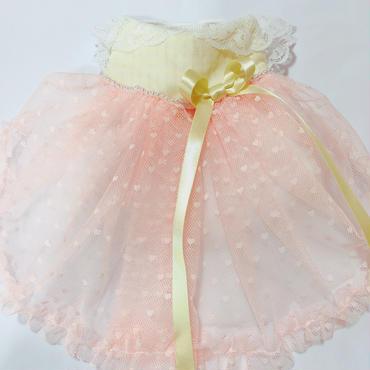 ♡チュールのフワフワスカート*オレンジ*Lサイズ