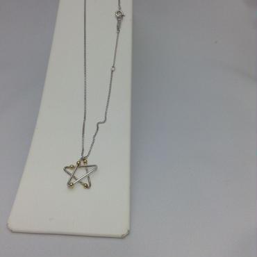 SV/K18 星ネックレス