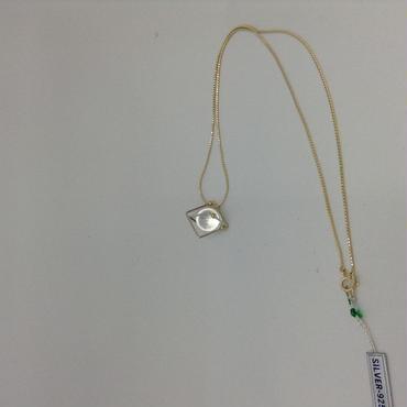 SV/K18水晶スペース(宇宙)ネックレス