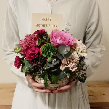 mother's day flower arrangement  /RED(M)