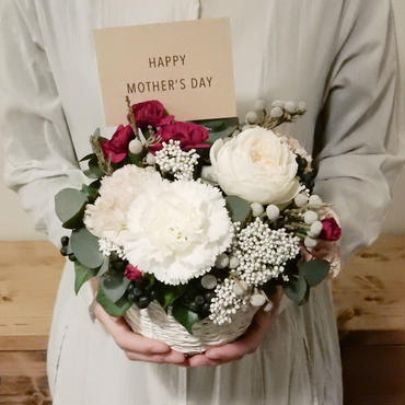 mother's day flower arrangement  /Pale Pink(M)