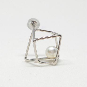 ice cube Mピアス シルバー